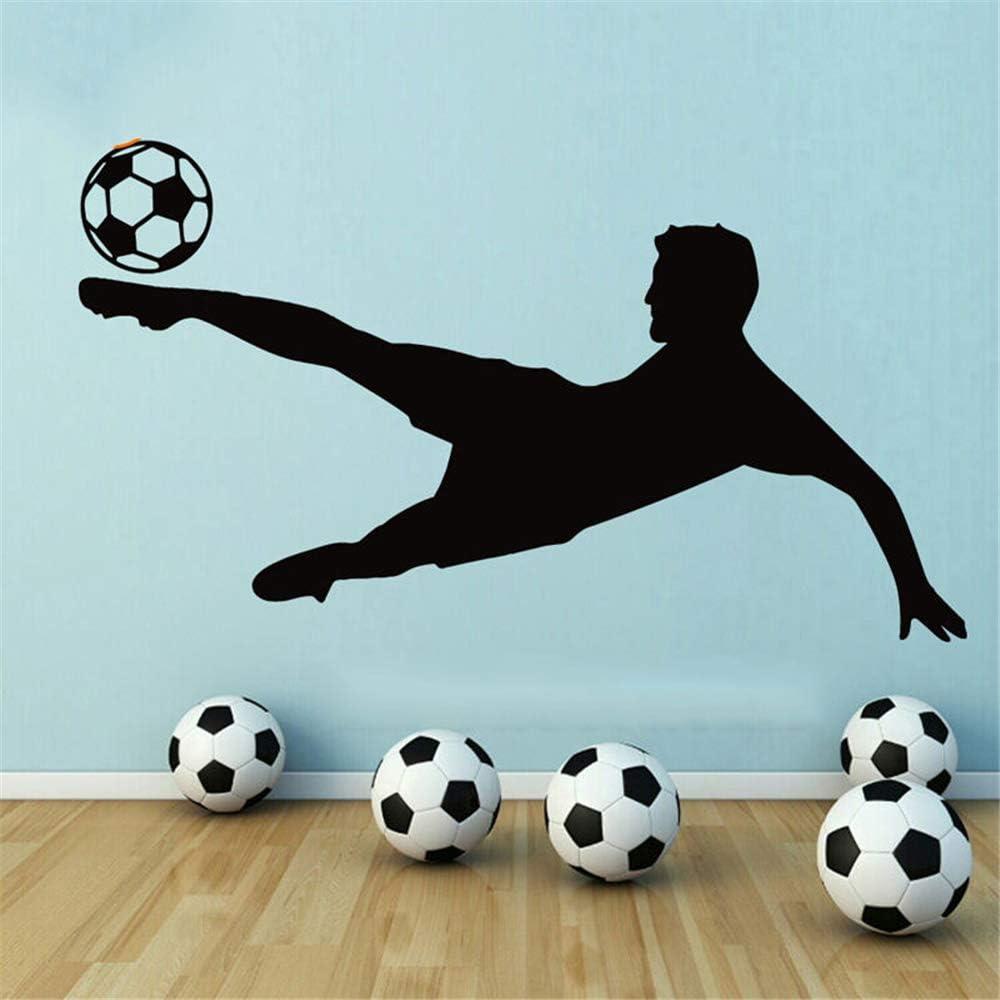pegatina de pared 3d Balón de fútbol Jugador de fútbol Calcomanía ...
