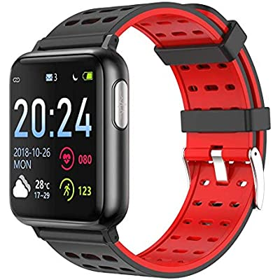 Color Screen Sports Smart Watch ECG PPG Heart Rate Blood Pressure Monitor Smart Bracelet IP67 Fitness Tracker Wristband Silver Black Fashion Black White Fashion
