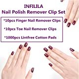 INFILILA Nail Polish Remover Clip Set-20pcs Nail