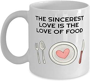 Valentine's Day Mug, Sincerest Love Of Food, Valentine Day Gift For Her, Funny Valentine Day Gift For Him, Husband Wife Coffee Mug, Couples Mug