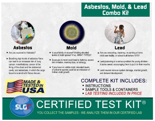 Asbestos, Lead, and Mold Combo Test Kit (5 Bus. Days) Schneider Labs by SLGI Certified Test Kits