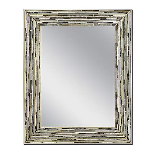 Head West Reeded Onyx Wall, 23.5 inches x 29.5 inches Mirror,
