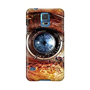 S50574 Blue Eye art Glossy Case Cover For Samsung Galaxy S5