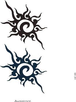 Tatuajes temporales sol Tribal - Tatuaje efímero sol Tribal ...