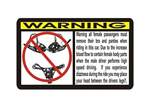 1 Pc Impassioned Unique Funny No Bra and Painties Car Window Sticker Graphic Warning Decal Self Adhesive Graphics Decor Wall Laptop Patches Home Room Art Luggage Vinyl Stickers Size 3