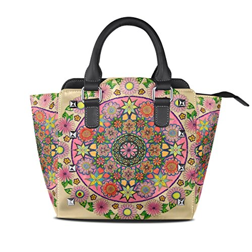 Handbags Floral TIZORAX TIZORAX Bags Abstract Tote Leather Abstract Women's Shoulder wtzZRRq