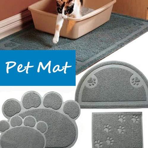 Amazon.com : Cat Litter Mat - Cat Mat Stops All Kitty Litter Tracking and Scatter from Cat Litter Box Non-Slip Cat Litter Mat Paw Shape : Pet Supplies