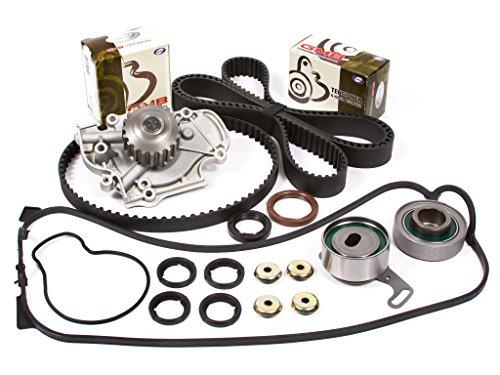 (Evergreen TBK187VCT Fits 90-97 Isuzu Honda 2.2L SOHC F22A F22B Timing Belt Kit Valve Cover Gasket Water Pump)