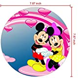 DISNEY COLLECTION Mouse Pad Mickey and Minnie Mouse Photo by Love Desktop HD Wallpaper for PC Tablet and Mobile Download Non-Slip Rubber for Computer PC Gaming Office Travel Laptop Home Black Faddish