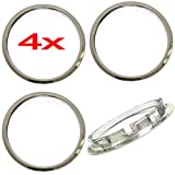 Cover Trend (Set of 4 Piece) Universal 15' Chrome Plated Beauty Trim Rings 1 1/2 Inch Deep for Steel Wheels