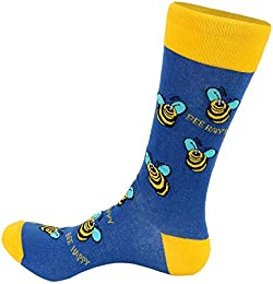 FineFit Man Cave Trouser Socks - One Size Bee Happy