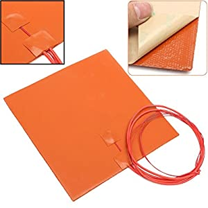 1pc Durable 200W 12V Rubber Silicone Heater Pad For 3D Printer Duplicating Machines Heated Bed Heating Mat 200200mm from Jwn