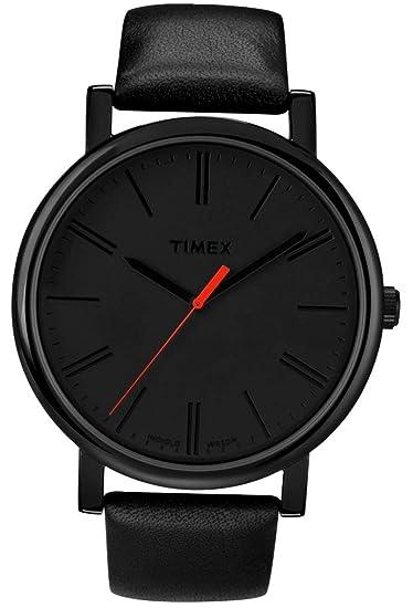 df6e1a9ee307 Timex Men s Easy Reader T2N794 Black Leather Quartz Fashion Watch ...