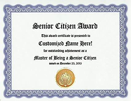 amazon com senior citizen award personalized custom old age award