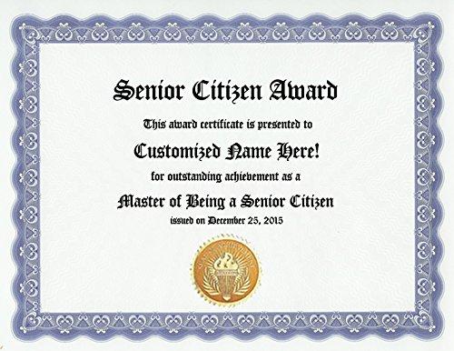 Amazon.com : Senior Citizen Award: Personalized Custom Old Age Award ...