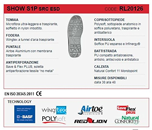U POWER Scarpa Red Lion Nuove S1P Show