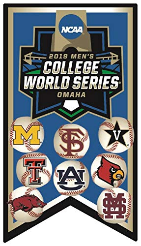 College World Series 2019 PIN Banner Style PIN with All 8 Teams PRE Order Item - Shipping Begins June 26TH