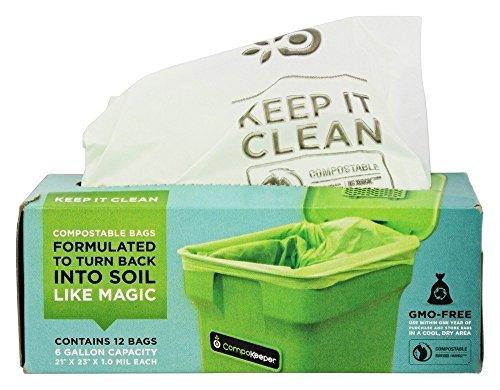 compokeeper Compost Bin Refill bolsas, 6Bolsas de galón Compostable, 12Count