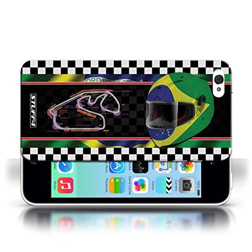 Etui / Coque pour Apple iPhone 5C / Brésil/SãoPaulo conception / Collection de F1 Piste Drapeau