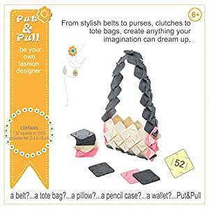 Put&Pull Girls Crafts Kit - Felt Squares Building Toy