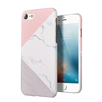 LCHULLE Funda iPhone 5 5S SE, Ultra Delgada Carcasa Dura Patrón de Mármol Súper Ligera Anti-Rasguño Antigolpes Choque Absorción Elegante Cubierta ...