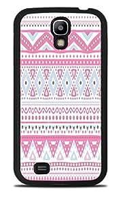 Pretty Pink Tribal Design Pattern Black Silicone Case for Samsung Galaxy S4 by icecream design