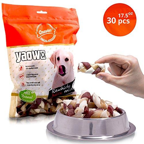 Small White Rawhide (Dog Treats - Twist Bully Rawhide Sticks For Harmonious Growth: All-Natural Chew Sticks With Prebiotics, Vitamins & Minerals - Digestible Treat Sticks - Strong Bones Joint 17 oz (Mini 1 - 15 Lbs))