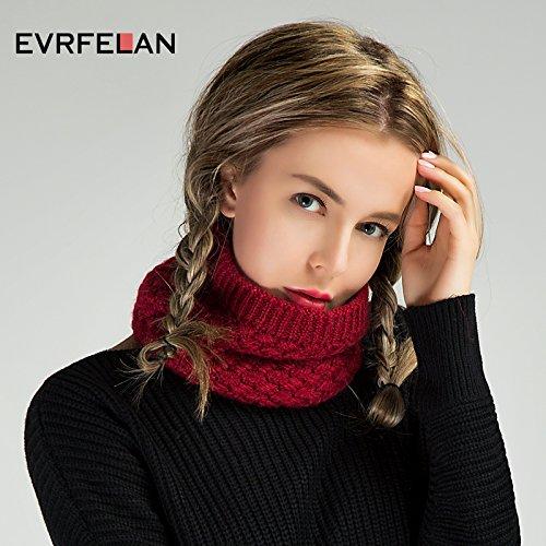 EVRFELAN Infinity Scarf Winter Women Circle Loop Scarves Warm Kids Neck Warmer Chunky Knit Soft Thick Fashion Ladies Accessories Ribbed Girls Men Boy Collar (Beige)