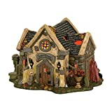 Department 56 Halvl the Haunted Cemetry Shed Lit_house