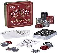 Gentlemen's Hardware Campfire Texas Hold'em Travel Poker Set with Bottle C