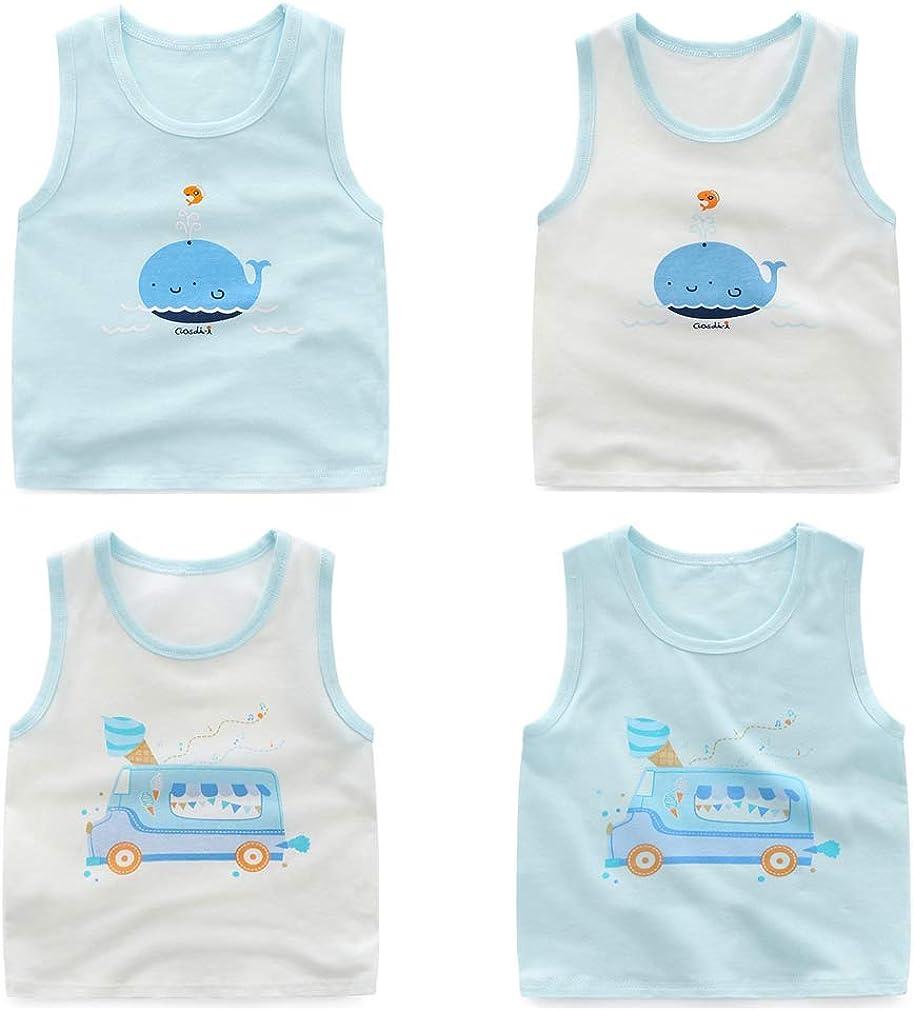Pack de 4 Z-Chen Camiseta de Tirantes para Ni/ños