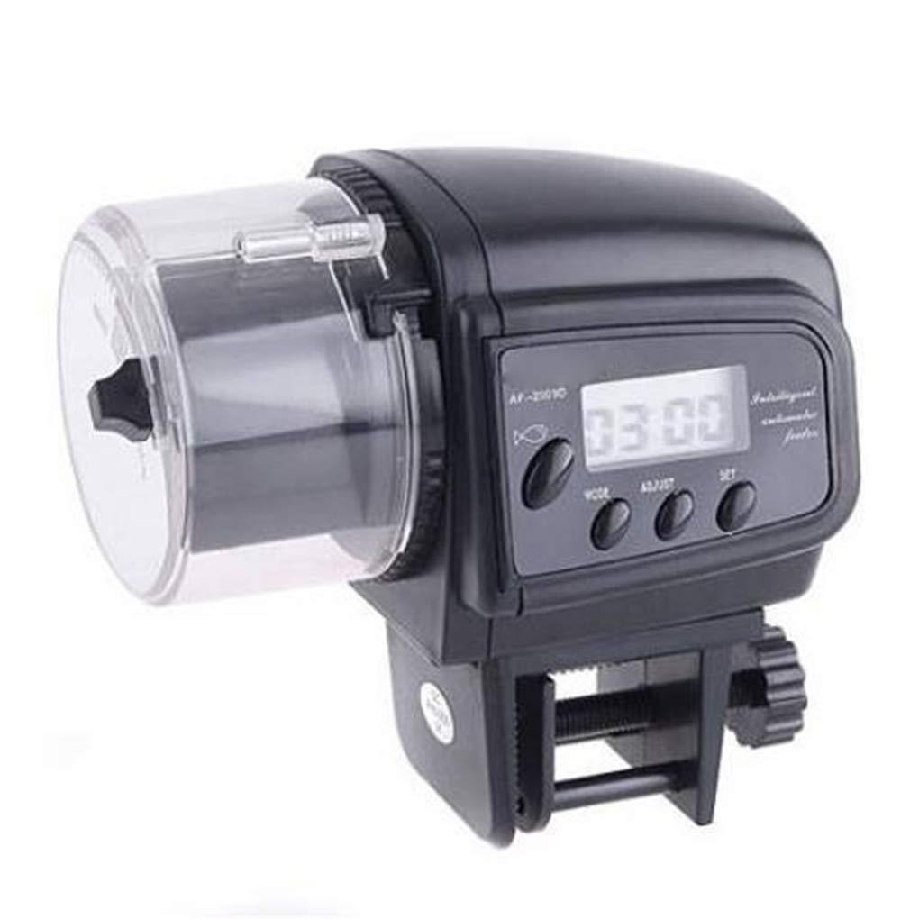 Ben-gi Alimentador automático de Pescado Peces de Acuario Tanque Comederos automáticos Función de Temporizador, Alimentación LCD Indica dispensador