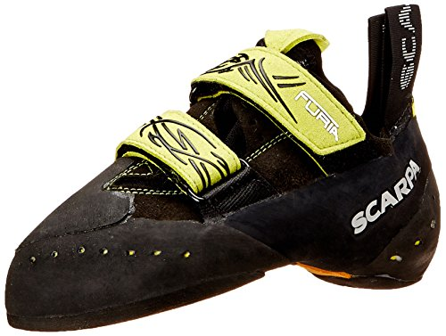 SCARPA Furia Climbing Shoe, Black/Lime, 39 EU/6.5 M US by SCARPA