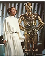 Star Wars Christmas Special Photo Carrie Fisher with C3PO 8 x 10 inch on light card stock