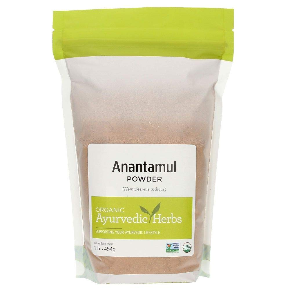Banyan Botanicals Anantamul Powder - Certified Organic, 1 Pound - Hemidesmus indicus - A pitta-balancing herb that supports proper function of the genitourinary system and promotes healthy skin*