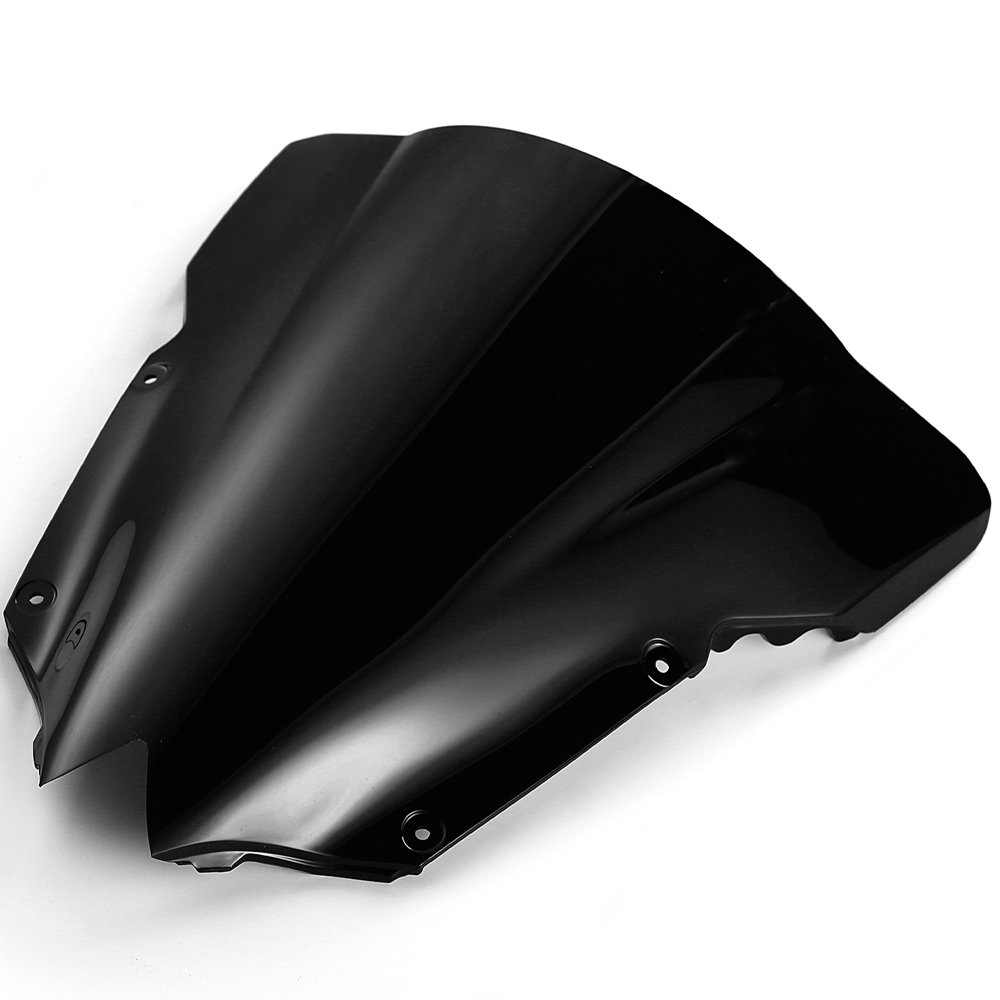 Black Double Bubble Windshields for Yamaha YZF R6 2008 2009 2010 2011 2012 2013 2014 2015 2016