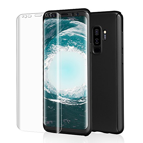 Galaxy S9 Plus Case, Asstar 360 Full Body with Built-in Screen Protector [Not Glass] Hard PC Protection Shockproof Case Cover for Samsung Galaxy S9 Plus 6.2 inch (2018) - Screen Glove Body Protector