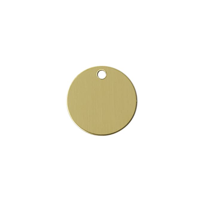 20 Gauge 20 Pack 1 Round With Hole .032 Brass RMP Stamping Blanks