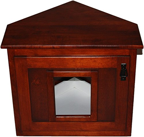 Corner Hidden Cat Litter Enclosure Oak Wood Furniture Wooden Kitty Litter Box Buy Online In