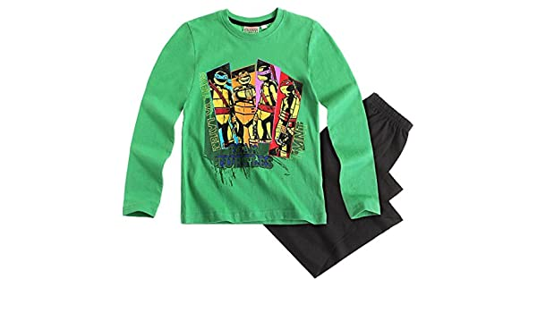 Pijama largo para niño Tortugas Ninja Verde/Negro de 6 a 12 ...