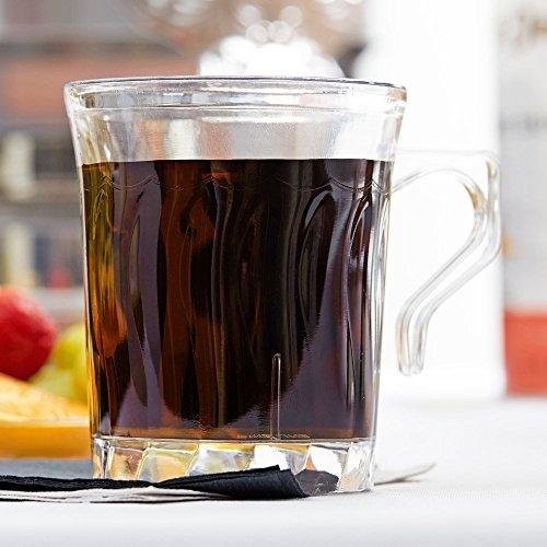 (24 Count CLEAR 8 oz. Plastic Coffee Mug w/Signature Party Picks)