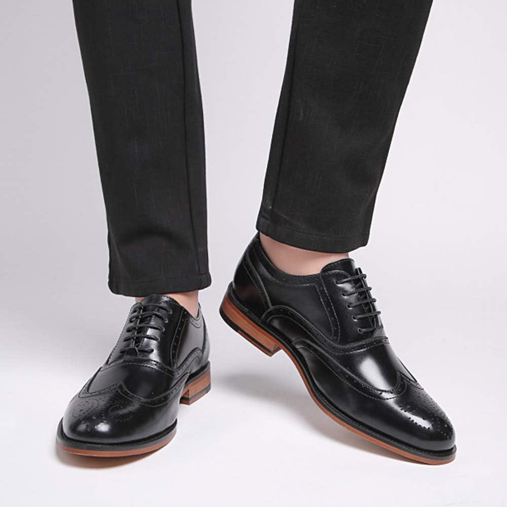 N / A Souliers formels d'homme élégant Brogue mode à lacets en cuir d'affaires formel Black