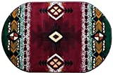 Southwest Native American Area Rug Carpet Burgundy Red Green (3 Feet X 5 Feet Oval) Review