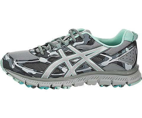 ASICS Women's Gel-Scram 3 Running Shoes Stone Grey/Silver/Aruba Blue 9 B(M) US