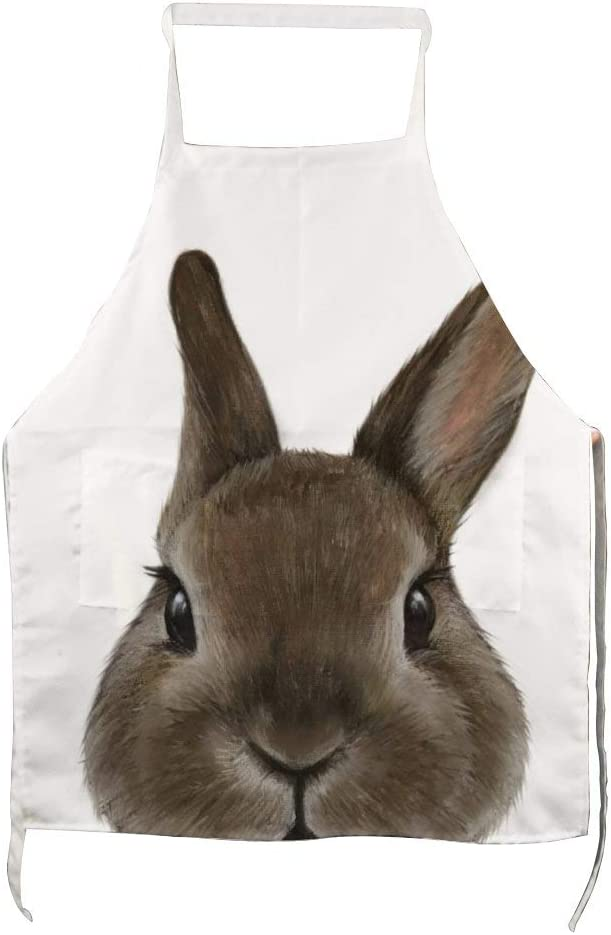 Netherland Dwarf Rabbit Home Kitchen Cooking Grill Aprons for Women Men Chef