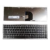 Holy apple Laptop Keyboard For LENOVO Erazer Z500 Z500A Z500-Touch Z501 Z505 Z510 Colour black with sliver frame US UNITED STATES edition