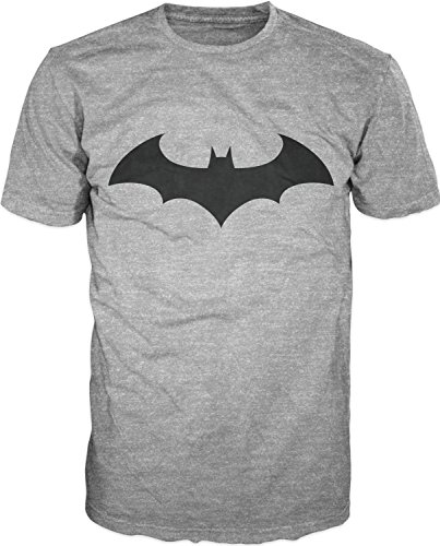 Batman+Retro+Shirts Products : Batman Dark Knight Logo Bat Fly Mens Athletic Grey T-Shirt