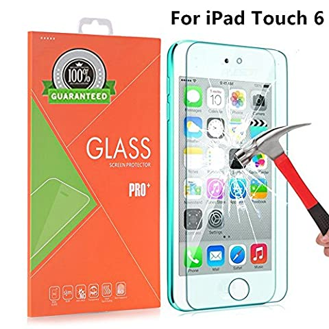 AOKER iPod Touch 6 Screen Protector, [Anti-scratch] 0.2mm 9H Hardness High Definition Premium Tempered Glass for Apple iPod Touch 6th, 5th Generation With Lifetime Replacement Warranty (Iphone 6 Case Otterbox Hunting)