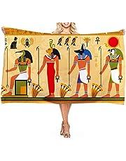 SCVBLJS Strandlakan filt Egyptiskt tryck kvinna män badhandduk mikrofiber simning mjuk utomhus stor handduksöverdrag yogamatta för flickor pojkar vuxna