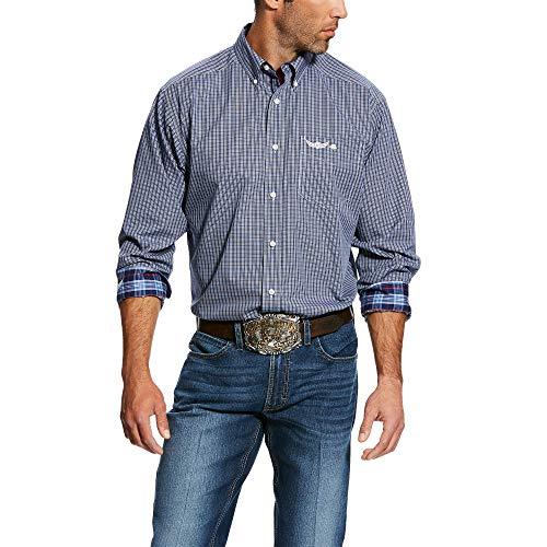 ARIAT Men's Relentless Honorable Ls Plaid Shirt Cloudburst Blue Size Medium